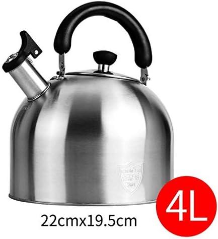 Wasserkocher, 3/4/5 Liter Edelstahl Herd Pfeifkessel kann auf Induktionsherd Gasherd angewendet Werden