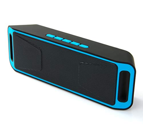 Price comparison product image Wireless Speakers,  Bluetooth Speakers,  MANCASSY N8 Outdoor Portable Stereo Speaker with HD Audio and Enhanced Bass,  Built-in Dual Driver Speakerphone,  FM Radio and TF Card Slot (Blue)