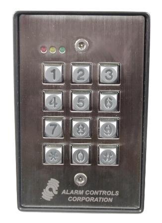 Alarm Controls Outdoor Keypad Vandal Resistant Weatherproof Fully Programmable Built-In Buzzer