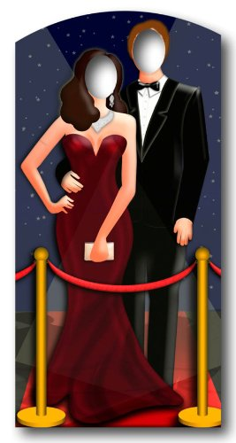 Red-Carpet / Hollywood Couple Stand In - Stand In Lifesize Cardboard Cutout / Standee / Standup