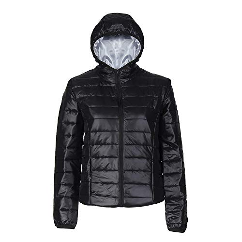 Oliviavan Women's Fashion Casual Blouse, New Hooded Winter Warm Cotton Parka Jacket Coats Black