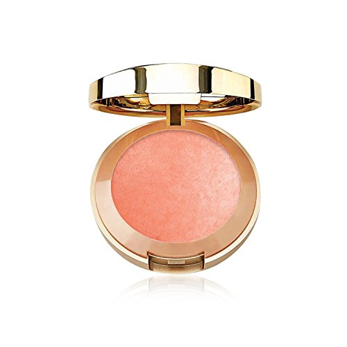 Milani Baked Blush - Luminoso (0.12 Ounce) Cruelty-Free Powder Blush - Shape, Contour & Highlight Face for a Shimmery or Matte Finish (Gold Shimmer Powder Brush)