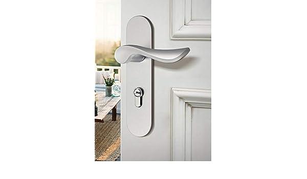 ALILEO Cerradura de la puerta dormitorio interior cerradura de la puerta cuarto de baño americano negro puerta de madera maciza manija de la casa muda cerradura de la puerta blanca: Amazon.es: Bricolaje