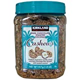 Kirkland Signature Dark Chocolate Toasted Coconut Cashews, 1.8 lb (Pack of 2)