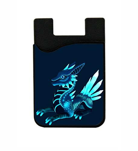 Blue Dragon - Lea Elliot TM Black Silicon Card Phone Pocket