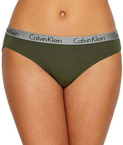 (Calvin Klein Women's Radiant Cotton Bikini Panty, Duffel Bag, XS)