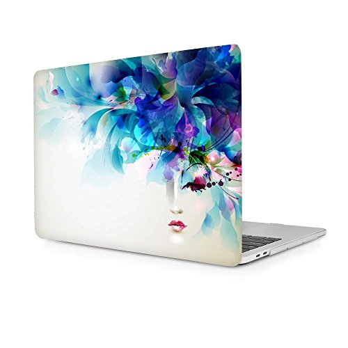 TwoL MacBook Pro 15 2016 2017 Case, Ultra Slim Hard shell Plastic Protective Case Cover for MacBook Pro 15 Touch Bar A1707 (Beautiful Girl) (Cover Girls Beautiful)