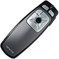 INFINITER LR-22R Wireless Remote/Mouse/Presenter/Media Player/Quick Time Remote Controller for PC/Mac with Red Laser Pointer, Black