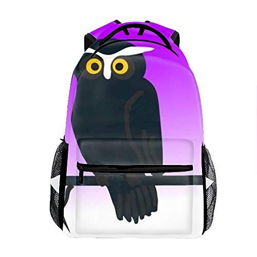 Lightweight Clipart Halloween Owl Backpacks Girls School Bags Kids Bookbags -