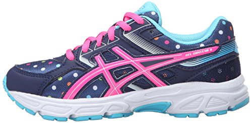 ASICS GEL-Contend 3 GS Running Shoe (Little Kid/Big Kid), Indigo Blue/Pink Glow/Aquarium, 5 M US Big Kid