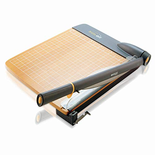 (Westcott ACM15106 TrimAir Titanium Wood Guillotine Paper Trimmer with Anti-Microbial Protection, 12