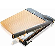 """Westcott ACM15106 TrimAir Titanium Wood Guillotine Paper Trimmer with Anti-Microbial Protection, 12"""""""