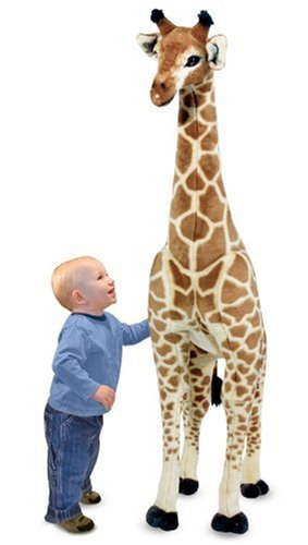 Melissa & Doug Giant Giraffe, Playspaces & Room Decor, Lifelike Stuffed Animal, Soft Fabric, Over 4 Feet Tall, 57.5