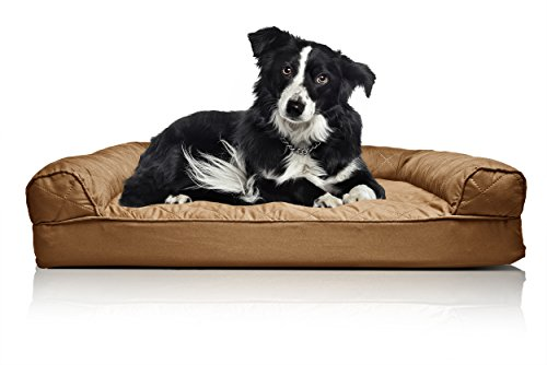 FurHaven Orthopedic Dog Couch Sofa Bed for Dogs and Cats, Large, Toasted Brown Dog Beds Orthopedic Beds
