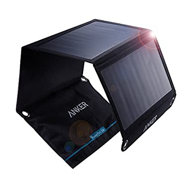 Anker 21W 2-Port USB Solar Charger PowerPort Solar for iPhone 6/6 Plus, iPad Air 2/mini 3, Galaxy S6/S6 Edge and More