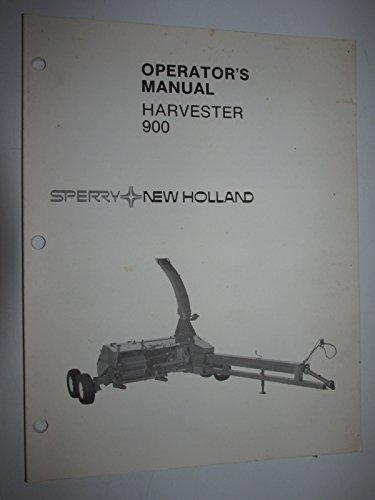 New Holland 900 Harvester Operators Owners Manual Original -