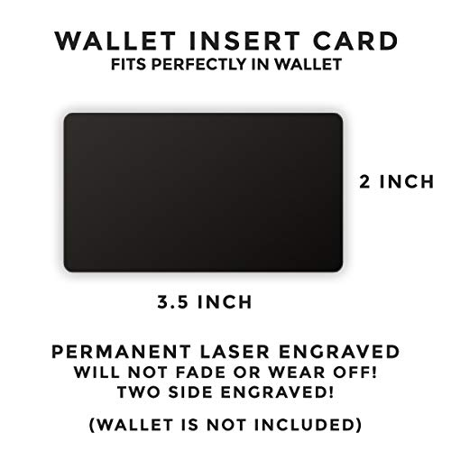 Engraved Stainless Steel Wallet Card Insert - Anniversary Wedding Gift Idea - Unique Mini Love Note for Husband Wife (Black) by PinMaze (Image #3)