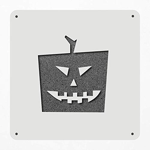 Stencil Large 12 Inch Halloween Pumpkin Square Modern Pumpkin Halloween Carve Plastic Mylar Stencil Painting, Walls, Crafts, Signs, Item 508703 -
