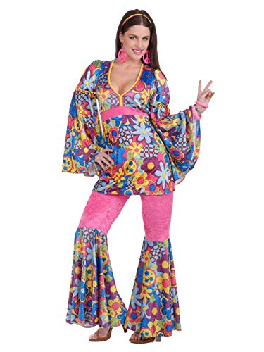 Forum Novelties Women's 60's Revolution Hip Flower Child Go-Go Costume, Multi, Standard]()