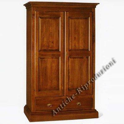 Holzschrank cm 125x61, h 200 - 2 Türen, Italienischer Produktion