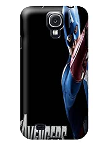 For Samsung Galaxy s4(Marvel Avengers Captain America) by Shari Flanders hard design tpu skin back cover case with beauty illustration