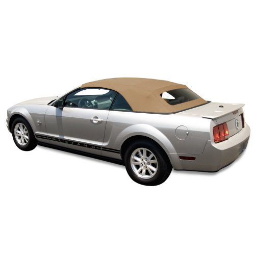 014) Factory Style Convertible Top with Heated Glass Window in Haartz Stayfast Cloth Camel (Stayfast Cloth Material)