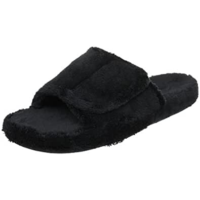 ACORN Men's Spa Slide,Black,Small (7.5-8.5 M US)