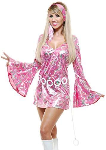 [Disco Queen Adult Costume Pink - Medium] (Disco Queen Halloween Costume)