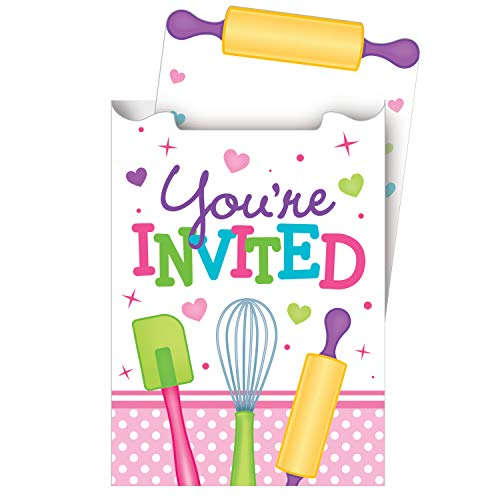 Discount Party Invitations (8-Count Pop-up Party Invitations, Little)