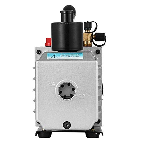 VEVOR Vacuum Pump 8CFM 1HP Two Stage HVAC Rotary Vane Vacuum Pump Wine Degassing Milking Medical Food Processing Air Conditioning Auto AC Refrigerant Vacuum Pump (2-Stage, 8CFM) by VEVOR (Image #5)
