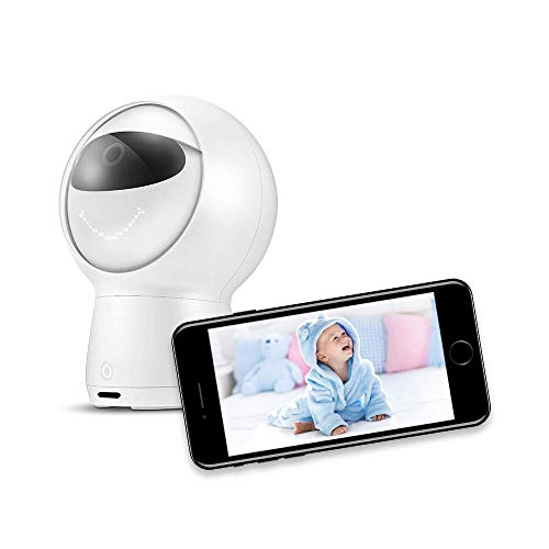 Video Baby Monitor, Hubble Hugo 1081P HD VOX Activated Monitor Camera with Alexa, Night Vision