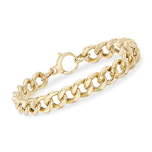 Ross-Simons Italian 14kt Yellow Gold Curb-Link Bracelet