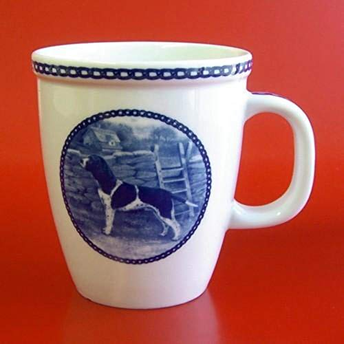 Old Danish Pointer - Porcelain Mug made in Denmark Premium Quality and Design from Lekven. Perfect Gift For all Dog Lovers. Size - 4.2 inches.
