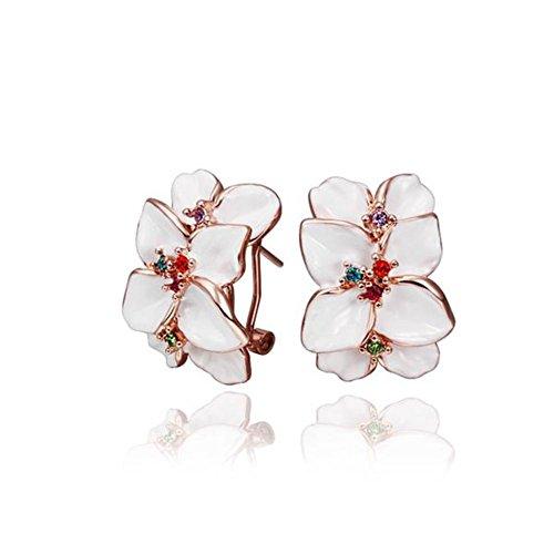 Western Style Earrings Rose Gold Earrings Flower Stud Earrings