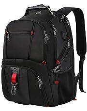 Laptop Rucksack Herren, Backpack Schulrucksack Daypack Multifunktion Business Notebook Taschen Wasserdicht Großer mit USB Ladeanschluss für Damen Männer Schüler Jungen Teenager