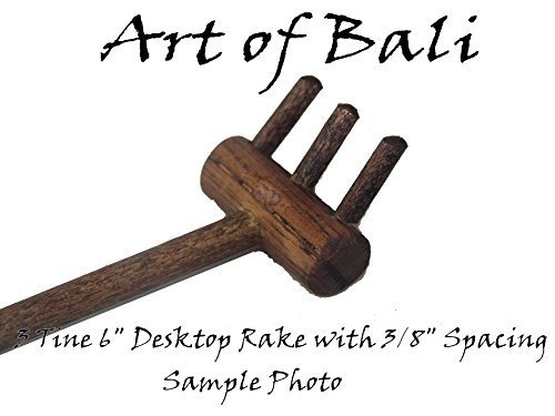 Art of Bali Zen Garden Rake Three Tine Desktop Rake - Zen Gardens by Art of ()