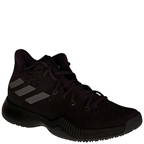 adidas Boys' Mad Bounce J Basketball Shoe, Utility Black/Black/Grey, 5 M US Big Kid