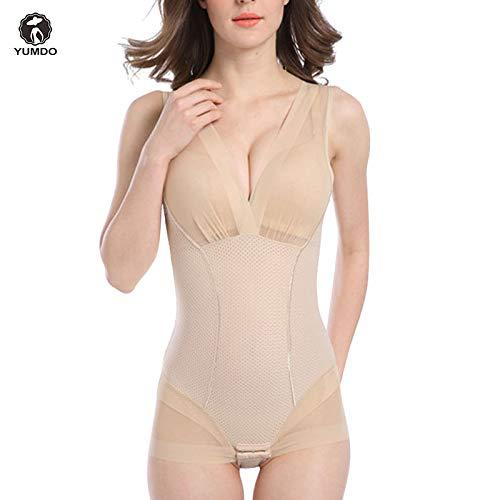 c619d3494e5a0 HITSAN INCORPORATION YUMDO Black Lace Bodysuit Shaper Control Slip Women  Lingerie Transparent Underwear Hook V Neck