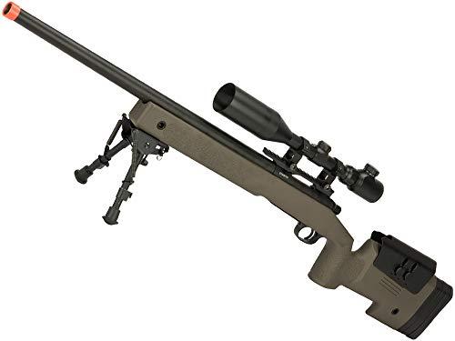 Evike PDI Custom S&T USMC M40A3 Bolt Action Airsoft Sniper Rifle w/PDI Internals (Model: OD Green/500 FPS)