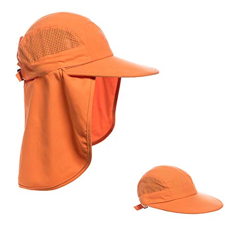 a9529508ac0d24 Sun Cap Fishing Hat UPF 50+ UV Protection Hats with Removable Neck Flap  Cover Shade Hat for Women Laser Breathable Mesh Quick Dry Hat for Outdoor  Sports