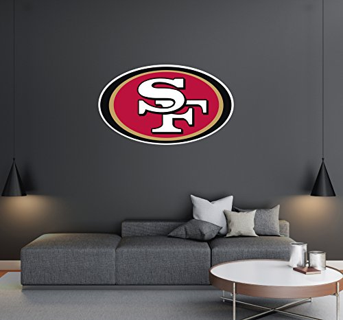 San Francisco 49ers- Football Team Logo - Wall Decal Removable & Reusable For Home Bedroom (Wide 20