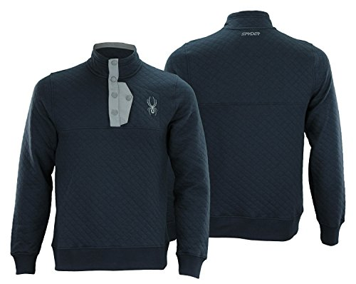 Spyder Mens Mens Quilted Pullover Fleece Frontier XL