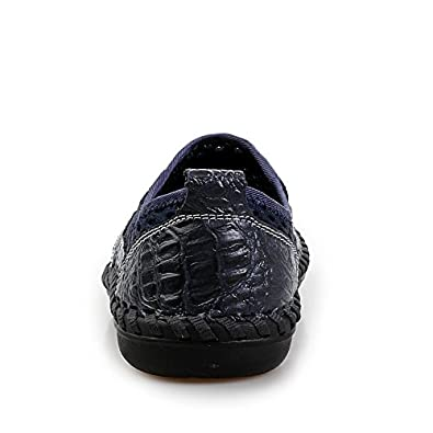 The Flash Store Fashion Mens Loafers Slip Ons Summer Breathable Mesh Flat Walking Shoes Casual Driving Shoes