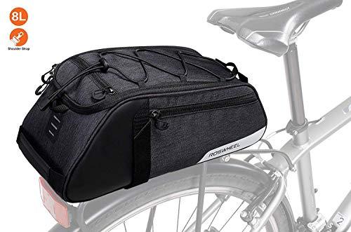 Great factory Bike Bag Waterproof Bike Trunk Bag,(for Bicycle Cargo Rack Saddle Bag Shoulder Bag Laptop Pannier Rack Bicycle Bag Professional Cycling Accessories)
