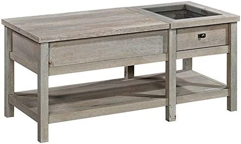 Festnight Rustic Coffee Table Reclaimed Wood Sofa and Couch End Side Table for Living Room Home Furniture Square