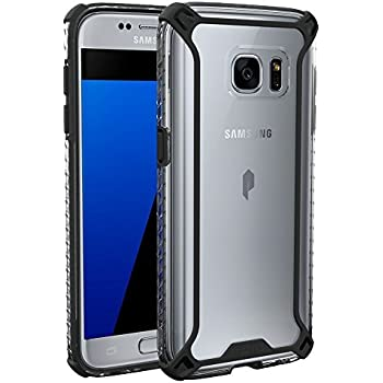 POETIC Galaxy S7 Case, Affinity Series, Premium Thin, Corner Protection, No Bulk/Protection where its needed/Dual Material Slim Fit Protective Bumper Case for Samsung Galaxy S7 Black/Clear