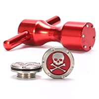 Volf Golf 1 Pair 5g 10g 15g 20g 25g 30g Red/Black Pirate Style Putter Weights with Wrench Tool for Scotty Cameron Fastback & Squareback