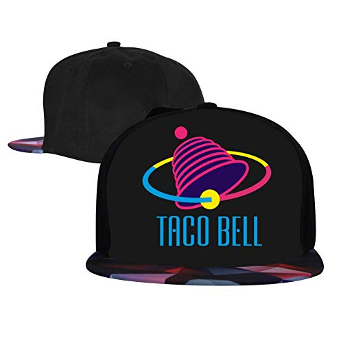 Taco Bell 2032 Men's and Women's Trucker Hats, Adjustable Hip Hop Flat-Mouthed Baseball Caps Red