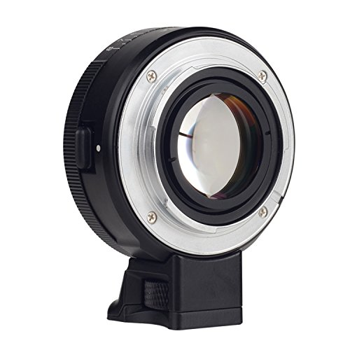 VILTROX NF-E Manual-Focus F Mount Lens Adapter Focal Reducer Speed Booster for Nikkor G Lens & F Lens to Sony NEX E-Mount Camera with 2-Stop Increase in Aperture and Optical Glasses