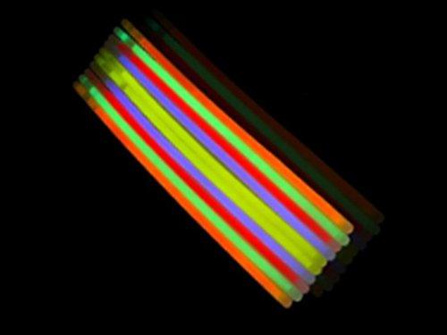 "Play Kreative Kids Light-up Glow Stick Bracelets - Pack of 50 Glow In The Dark Bracelets - 8"" Light Up Bracelets - Assorted Colors Glow Stick Bracelets - Children Party Favor Jewelry Bracelet Toys"